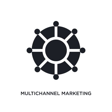 multichannel marketing isolated icon. simple element illustration from technology concept icons. multichannel marketing editable sign symbol design on white background. can be use for web and