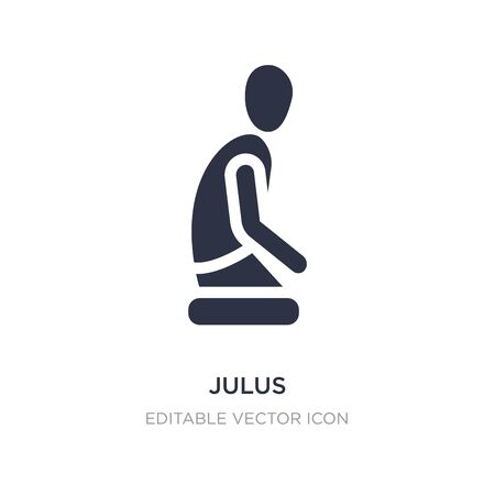 julus icon on white background. Simple element illustration from People concept. julus icon symbol design.