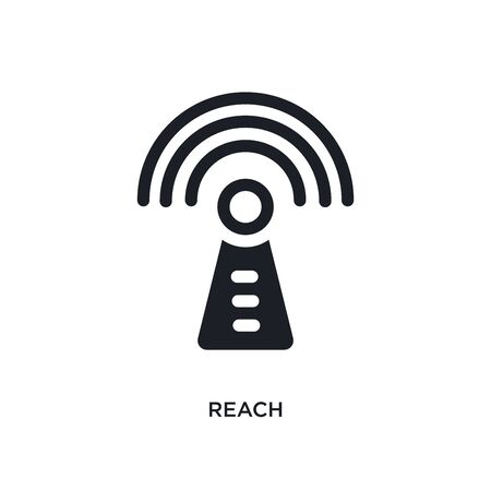 reach isolated icon. simple element illustration from technology concept icons. reach editable  sign symbol design on white background. can be use for web and mobile