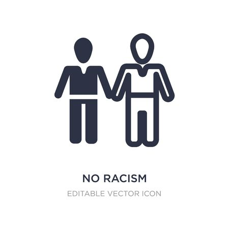 no racism icon on white background. Simple element illustration from People concept. no racism icon symbol design. Stock Illustratie