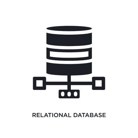 relational database management system isolated icon. simple element illustration from technology concept icons. relational database management system editable  sign symbol design on white Stock Illustratie
