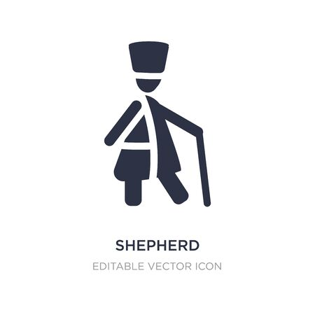 shepherd icon on white background. Simple element illustration from People concept. shepherd icon symbol design.
