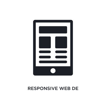 responsive web  isolated icon. simple element illustration from technology concept icons. responsive web  editable  sign symbol design on white background. can be use for web and mobile