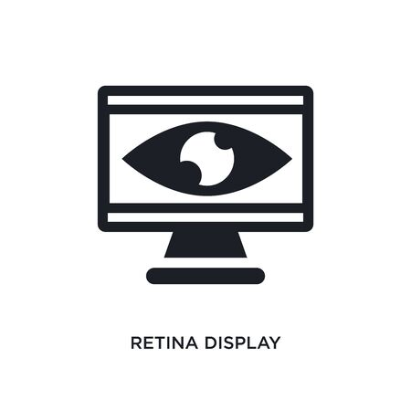 retina display isolated icon. simple element illustration from technology concept icons. retina display editable  sign symbol design on white background. can be use for web and mobile