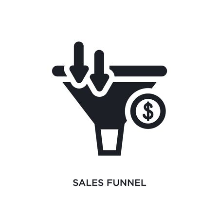 sales funnel isolated icon. simple element illustration from technology concept icons. sales funnel editable  sign symbol design on white background. can be use for web and mobile