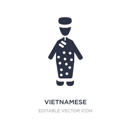 vietnamese icon on white background. Simple element illustration from People concept. vietnamese icon symbol design.