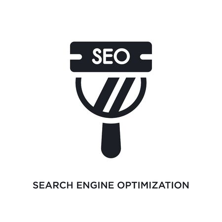 search engine optimization isolated icon. simple element illustration from technology concept icons. search engine optimization editable  sign symbol design on white background. can be use for Stock Illustratie