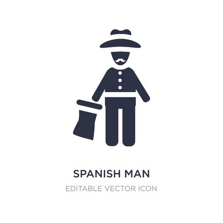 spanish man icon on white background. Simple element illustration from People concept. spanish man icon symbol design.