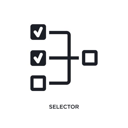 selector isolated icon. simple element illustration from technology concept icons. selector editable  sign symbol design on white background. can be use for web and mobile