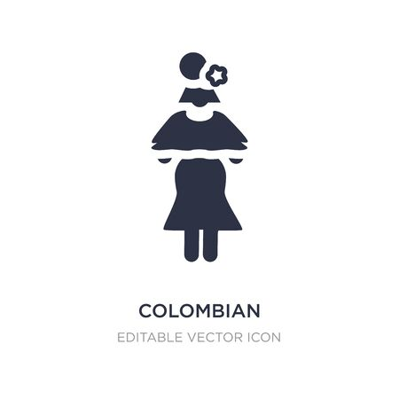 colombian icon on white background. Simple element illustration from People concept. colombian icon symbol design. Illustration
