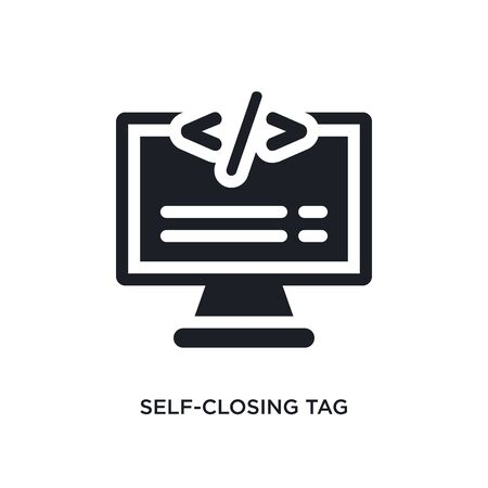 self-closing tag isolated icon. simple element illustration from technology concept icons. self-closing tag editable  sign symbol design on white background. can be use for web and mobile