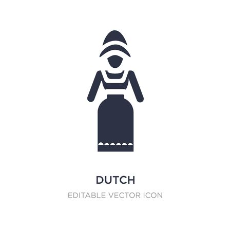 dutch icon on white background. Simple element illustration from People concept. dutch icon symbol design.