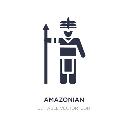 amazonian icon on white background. Simple element illustration from People concept. amazonian icon symbol design.