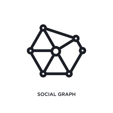 social graph isolated icon. simple element illustration from technology concept icons. social graph editable  sign symbol design on white background. can be use for web and mobile Stockfoto - 135952947