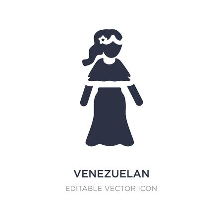 venezuelan icon on white background. Simple element illustration from People concept. venezuelan icon symbol design.
