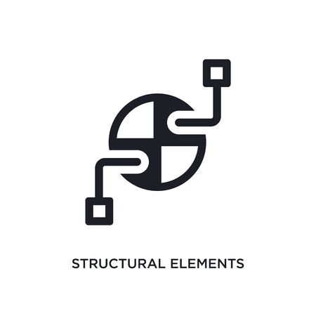 structural elements isolated icon. simple element illustration from technology concept icons. structural elements editable  sign symbol design on white background. can be use for web and mobile Stock Illustratie