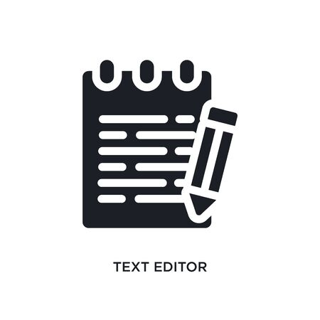 text editor isolated icon. simple element illustration from technology concept icons. text editor editable  sign symbol design on white background. can be use for web and mobile