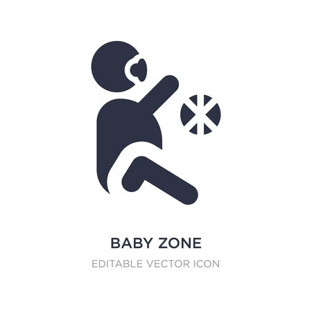 baby zone icon on white background. Simple element illustration from People concept. baby zone icon symbol design. Stock Illustratie
