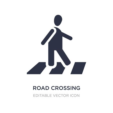 road crossing icon on white background. Simple element illustration from People concept. road crossing icon symbol design.
