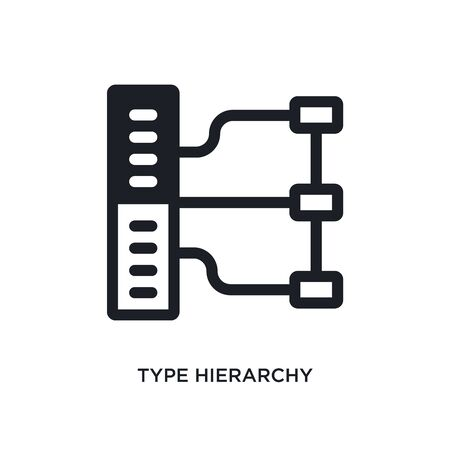 type hierarchy isolated icon. simple element illustration from technology concept icons. type hierarchy editable  sign symbol design on white background. can be use for web and mobile
