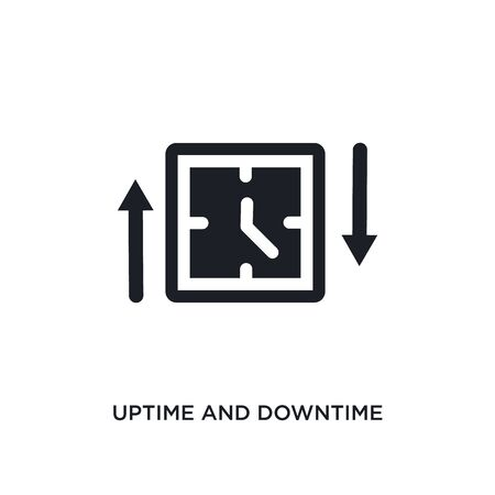 uptime and downtime isolated icon. simple element illustration from technology concept icons. uptime and downtime editable  sign symbol design on white background. can be use for web and mobile Stock Illustratie