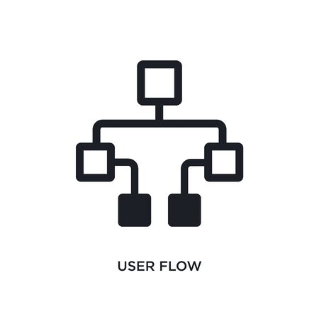 user flow isolated icon. simple element illustration from technology concept icons. user flow editable  sign symbol design on white background. can be use for web and mobile Stockfoto - 135952832