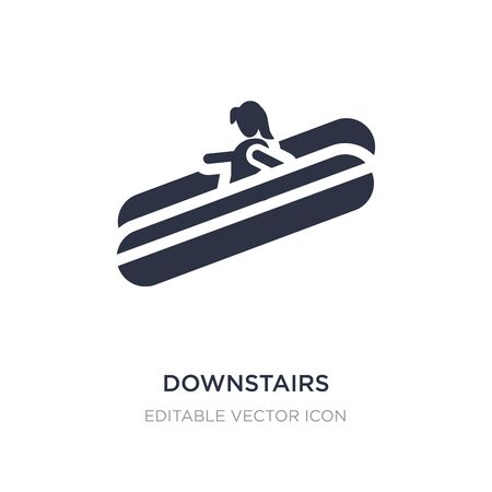 downstairs icon on white background. Simple element illustration from People concept. downstairs icon symbol design.