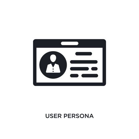user persona isolated icon. simple element illustration from technology concept icons. user persona editable  sign symbol design on white background. can be use for web and mobile