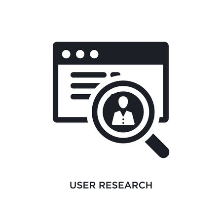 user research isolated icon. simple element illustration from technology concept icons. user research editable  sign symbol design on white background. can be use for web and mobile