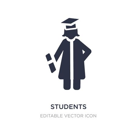 students graduation hat icon on white background. Simple element illustration from People concept. students graduation hat icon symbol design. Stock Illustratie
