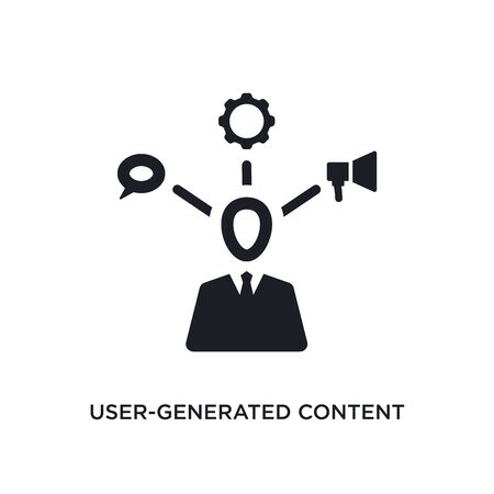 user-generated content isolated icon. simple element illustration from technology concept icons. user-generated content editable  sign symbol design on white background. can be use for web and Stock Illustratie