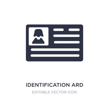 identification ard icon on white background. Simple element illustration from People concept. identification ard icon symbol design.