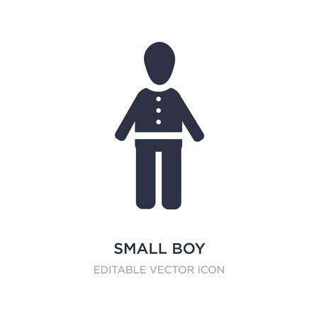 small boy icon on white background. Simple element illustration from People concept. small boy icon symbol design. Stock Illustratie