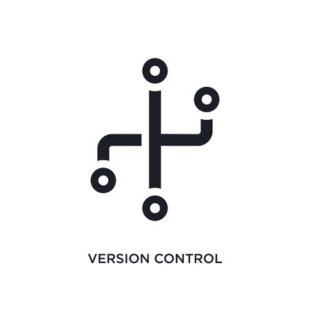 version control isolated icon. simple element illustration from technology concept icons. version control editable  sign symbol design on white background. can be use for web and mobile Stock Illustratie