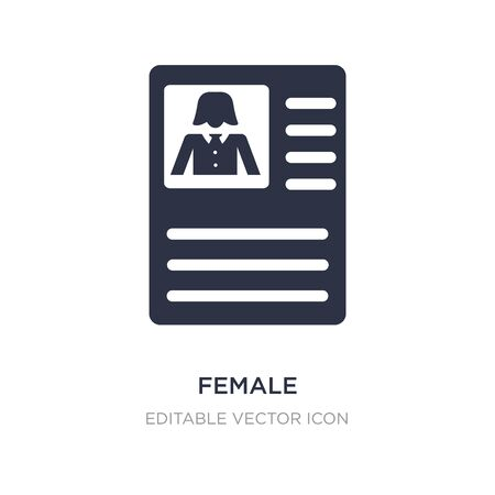 female journalist on tablet icon on white background. Simple element illustration from People concept. female journalist on tablet icon symbol design. Stock Illustratie