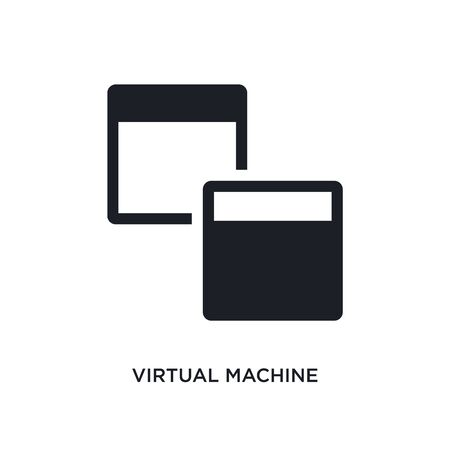 virtual machine isolated icon. simple element illustration from technology concept icons. virtual machine editable  sign symbol design on white background. can be use for web and mobile