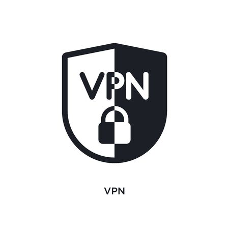 vpn isolated icon. simple element illustration from technology concept icons. vpn editable  sign symbol design on white background. can be use for web and mobile Illustration