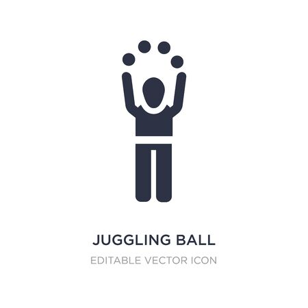 juggling ball icon on white background. Simple element illustration from People concept. juggling ball icon symbol design.