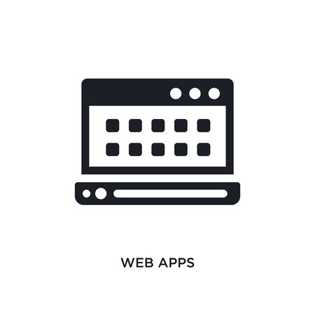 web apps isolated icon. simple element illustration from technology concept icons. web apps editable  sign symbol design on white background. can be use for web and mobile