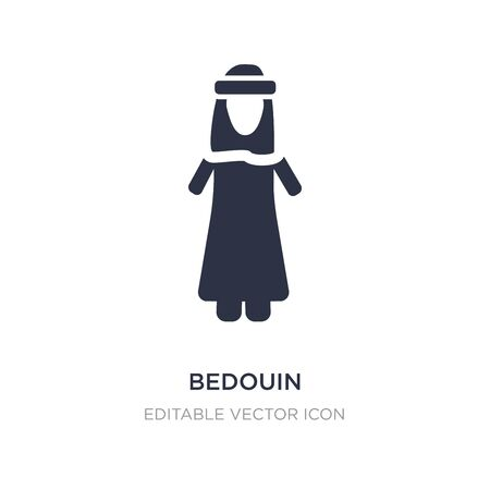 bedouin icon on white background. Simple element illustration from People concept. bedouin icon symbol design. Stock Illustratie