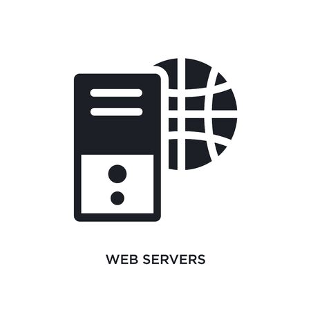 web servers isolated icon. simple element illustration from technology concept icons. web servers editable  sign symbol design on white background. can be use for web and mobile