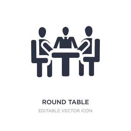 round table icon on white background. Simple element illustration from People concept. round table icon symbol design.