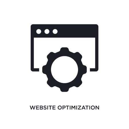 website optimization isolated icon. simple element illustration from technology concept icons. website optimization editable  sign symbol design on white background. can be use for web and
