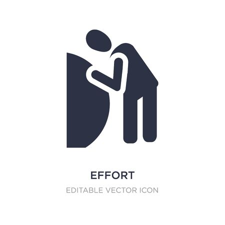 effort icon on white background. Simple element illustration from People concept. effort icon symbol design.