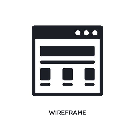 wireframe isolated icon. simple element illustration from technology concept icons. wireframe editable  sign symbol design on white background. can be use for web and mobile Stock Illustratie