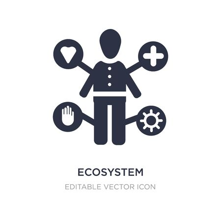 ecosystem icon on white background. Simple element illustration from People concept. ecosystem icon symbol design. Stock Illustratie