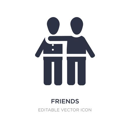 friends icon on white background. Simple element illustration from People concept. friends icon symbol design.
