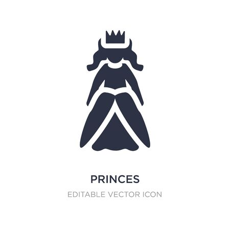 princes icon on white background. Simple element illustration from People concept. princes icon symbol design. Stock Illustratie