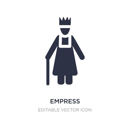empress icon on white background. Simple element illustration from People concept. empress icon symbol design.