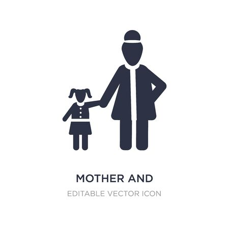 mother and daughter icon on white background. Simple element illustration from People concept. mother and daughter icon symbol design. Stock Illustratie